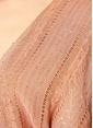 Sundress Payetli Kuşaklı Mini Plaj Elbisesi Pudra